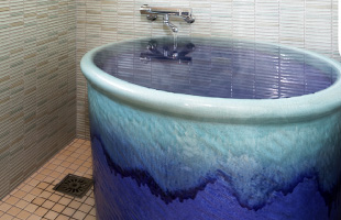 部屋付き陶器風呂